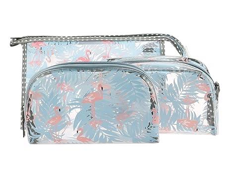 Bolsa de Aseo de PVC Transparente de 3 Piezas para líquidos ...