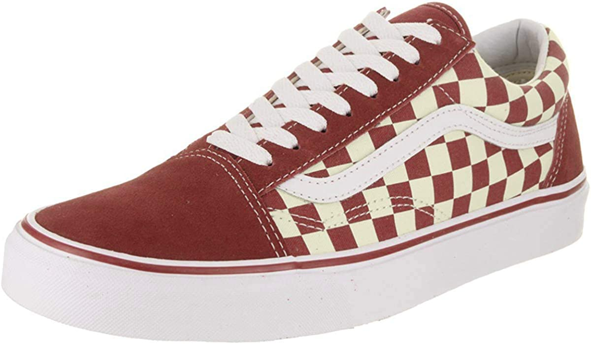 New Men & Women VANS OLD SKOOL PRIMARY CHECKERBOARD REDOFF WHITE CHECK SKATE