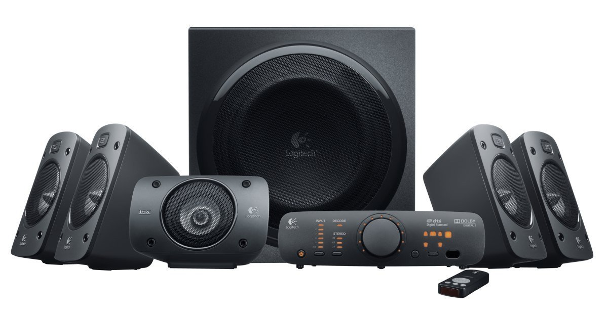 Logitech Z906 5.1 Surround Sound Speaker System - THX, Dolby Digital and DTS Digital Certified (Certified Refurbished)
