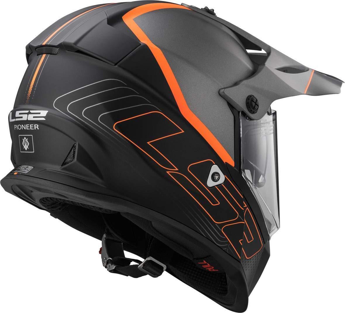 Matt Black Titanium LS2/helmet moto mx436/Pioneer Element S