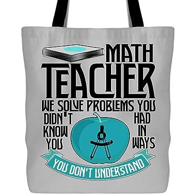 Amazon.com: Bolsas de lona para maestro de matemáticas ...