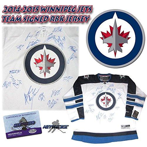 2015 WINNIPEG JETS Team Signed RBK Hockey JERSEY w/COA - LADD - Autographed NHL Jerseys