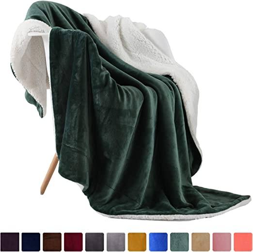 """Classic Solid Color Soft Warm Winter Home Throw Blankets 42/""""x60/"""""""
