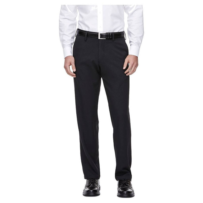 Mens Straight Fit Performance Pant Black Pinstripe Haggar H26