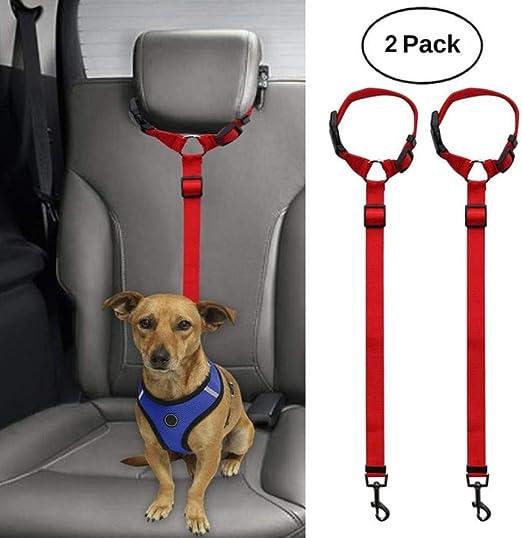LuckyGGG 2 Pack Perro Gato Cinturón De Seguridad Cinturón ...