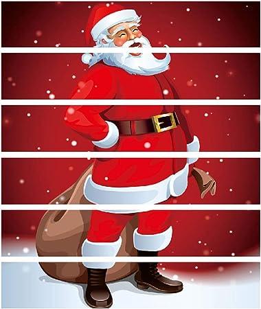 Amosfun 3D Papá Noel Escaleras Pegatinas Autoadhesivas Sin desvanecimiento Escaleras Pegatinas Escalera Elevador Calcomanías para Navidad Decoración del Hogar: Amazon.es: Hogar