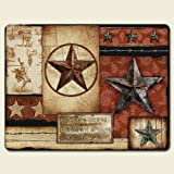 Western Barn Star 15 x 11.5-inch Tempered Glass Cutting Board