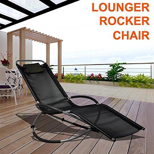 Popamazing® Black Dream Chair Swing Hammock Garden Furniture Sun Seat Relaxer/Canopy