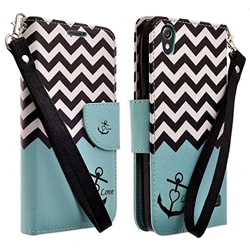 - Customerfirst - HTC Desire 626 (D626x) Case, Dual-use Flip Pu Leather Fold Wallet Pouch Case Premium PU Leather Wallet Flip Case for HTC 626 (ZEBRA TEAL)