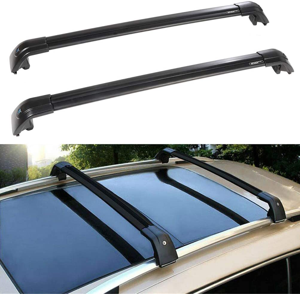 Aluminum Black Matte with Anti-Theft Locks Max Loading Up to 260 LB ONLY FIT Original Factory ROOF Side Rail Autekcomma Roof Rack Cross Bars for Kia Sorento 2015-2020 not fit 2.5L Turbo Model