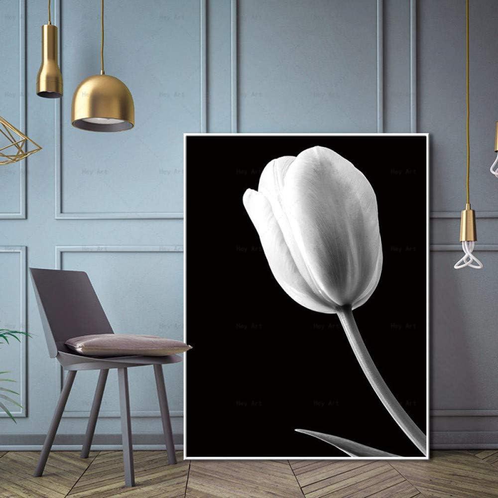 NIMCG Arte de la Pared Fotos Planta póster en Blanco y Negro ...