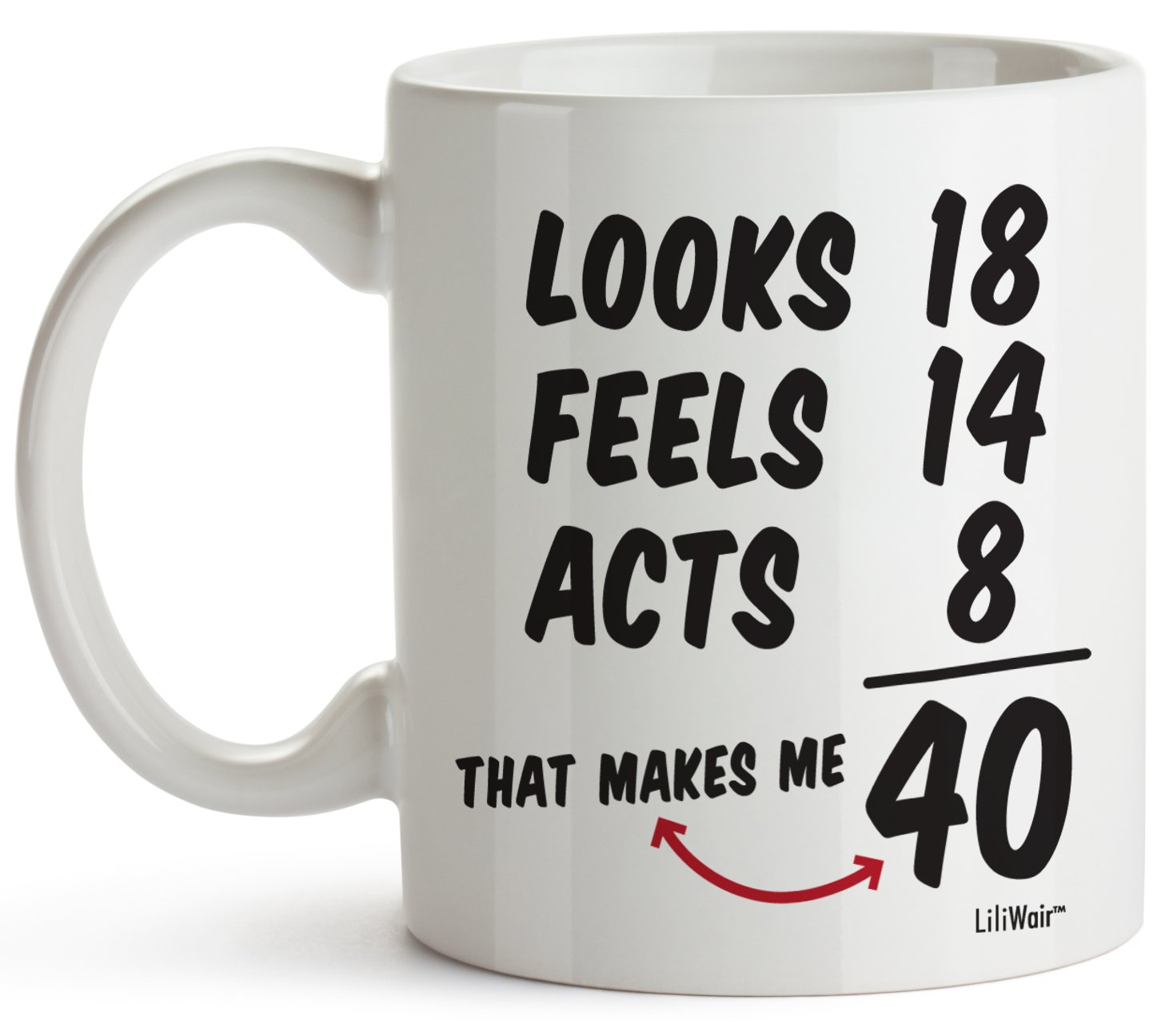 40th Birthday Gifts For Women Forty Years Old Men Gift Mugs Happy Funny 40 Mens Womens Womans Wifes Female Man Best Friend 1978 Male Mug Unique Ideas 78