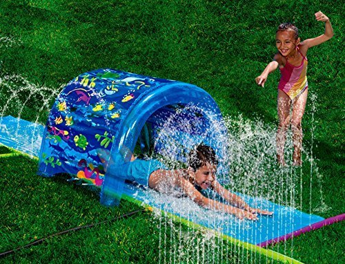 Inflatable Sprinkler Park Kids This Big Portable Kiddie Blow Up Above Ground Long Water slide Is Great For Toddlers, Children, Boys, Girls, Aqua Splash To Have Outdoor Water Fun With All Family.