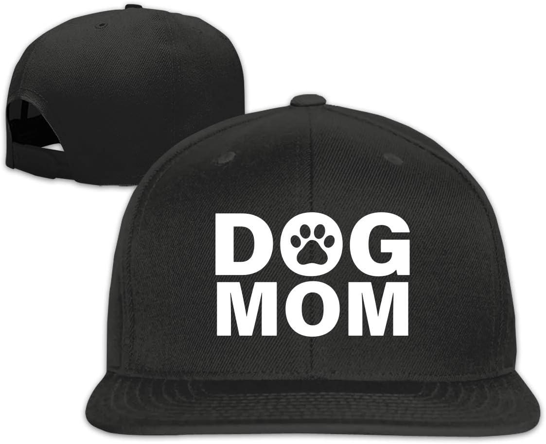 MOCSTONE Unisex Snapback Hat Dog MOM Adjustable Baseball Cap