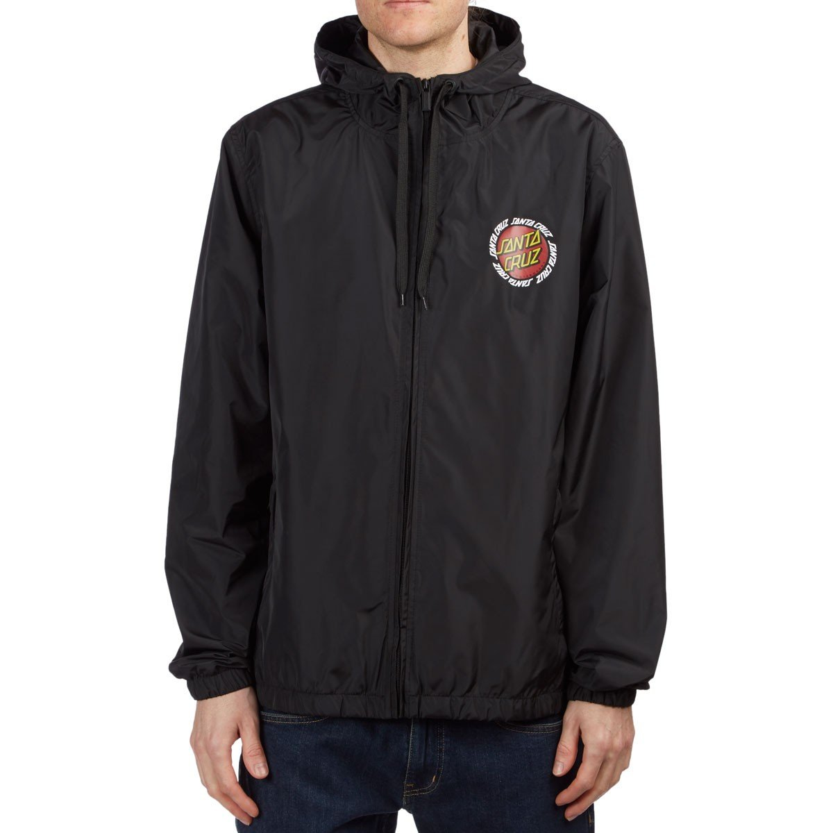 4724e9c45d Santa Cruz Men's Ringed Dot Hooded Windbreaker Jackets at Amazon Men's  Clothing store: