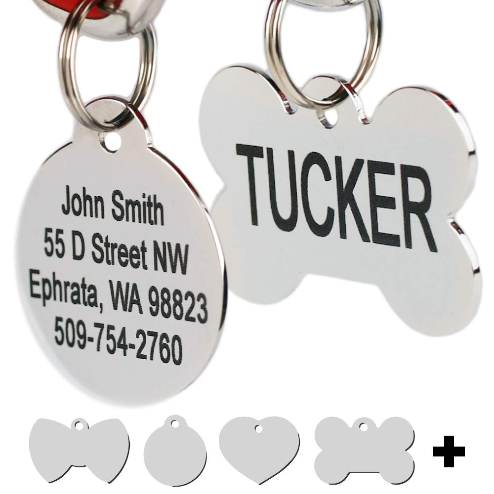578be58718a5 Amazon.com   Stainless Steel Pet Id Tags