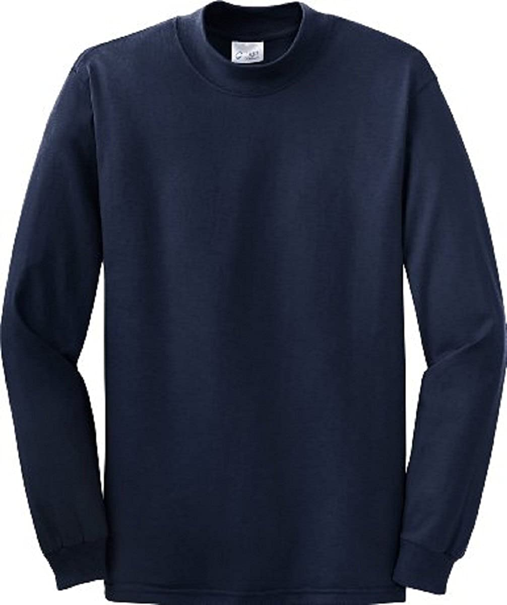 Available in 9 Colors X-Large Navy PC61M Port /& Company Mock Turtleneck