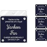 Tree-Free Greetings NC38095 Yankees Baseball Fan 4-Pack Artful Coaster Set