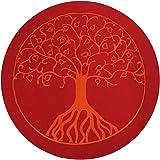 Árbol de la Vida-Cojín de yoga Diámetro 33x 16cm-Funda y relleno 100% algodón-A Máquina Hasta 30º C-Relleno de espelta de Austria-Cómoda, fijación Asiento Cojín para la meditación en Yoga, para Zen Meditación y otros Asiento meditationen, Yoga Cojín