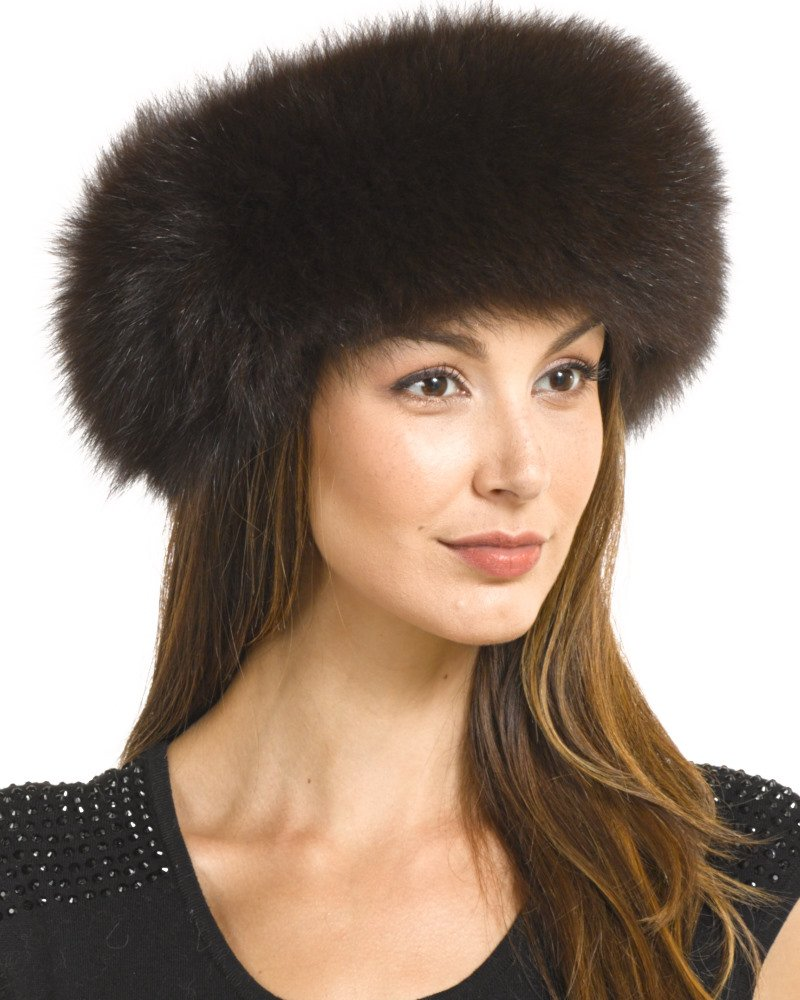 Frr Espresso Brown Fox Fur Headband