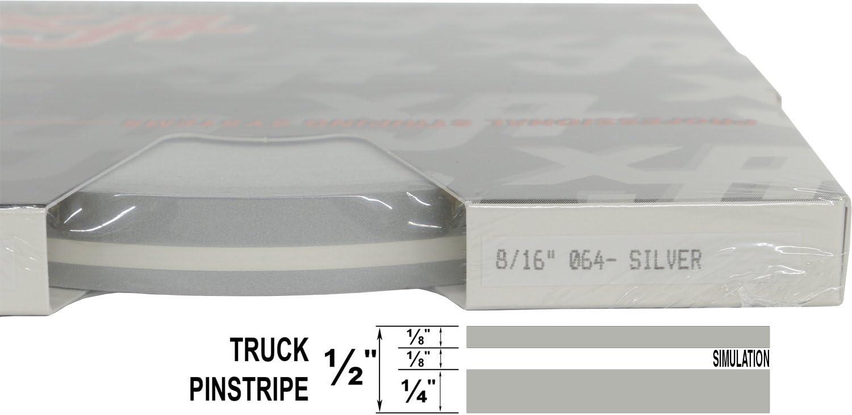 "8//16 x 150 1//4/"" Stripe, 1//8 Gap, Then 1//8/"" Stripe - 831-Champagne Metallic Universal TFX 0008831 Auto Truck Customizing Dual Pinstripe"