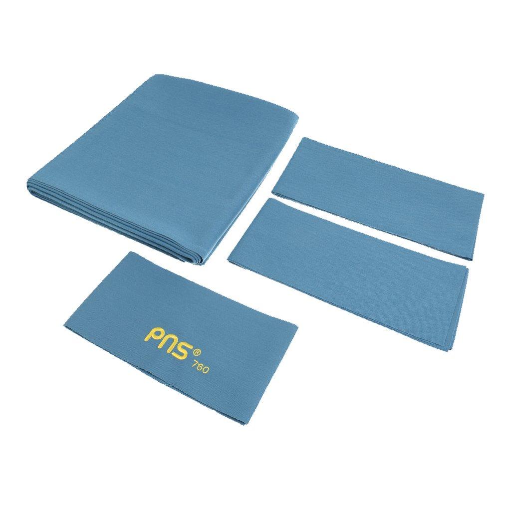 Sharplace PNS760 Funda Protección de Mesa de Billar de Snooker de Piscina 9 Pies 1PC Tela de Cama + 6PCS Tiras de Tela de Cojín - Azul