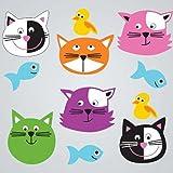 GelGems Cute Cats Large Bag Gel Clings