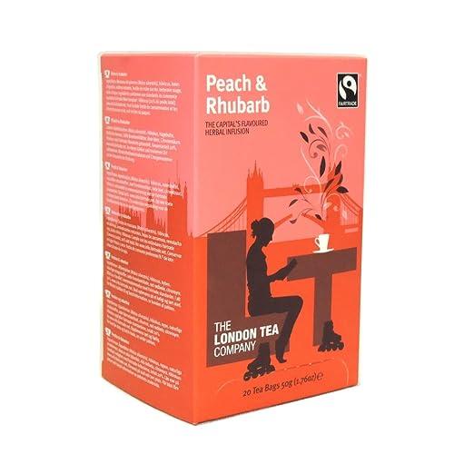 The London Tea Company – Té de melocotón y robarbo – 1.76 oz ...
