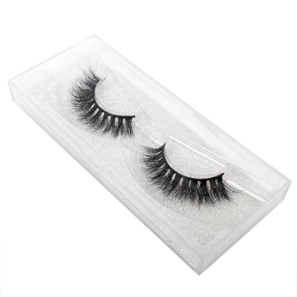 1329f1a5d64 Amazon.com : 1Pair Luxury 3D False Lashes Fluffy Strip Eyelashes Long  Natural Party (C) : Beauty