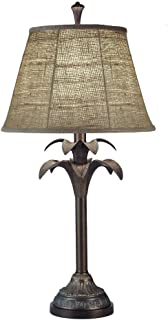 product image for Stiffel TL-5870-6716-BOM One Light Table Lamp, Bombay Bronze Finish with Natural Burlap Shade