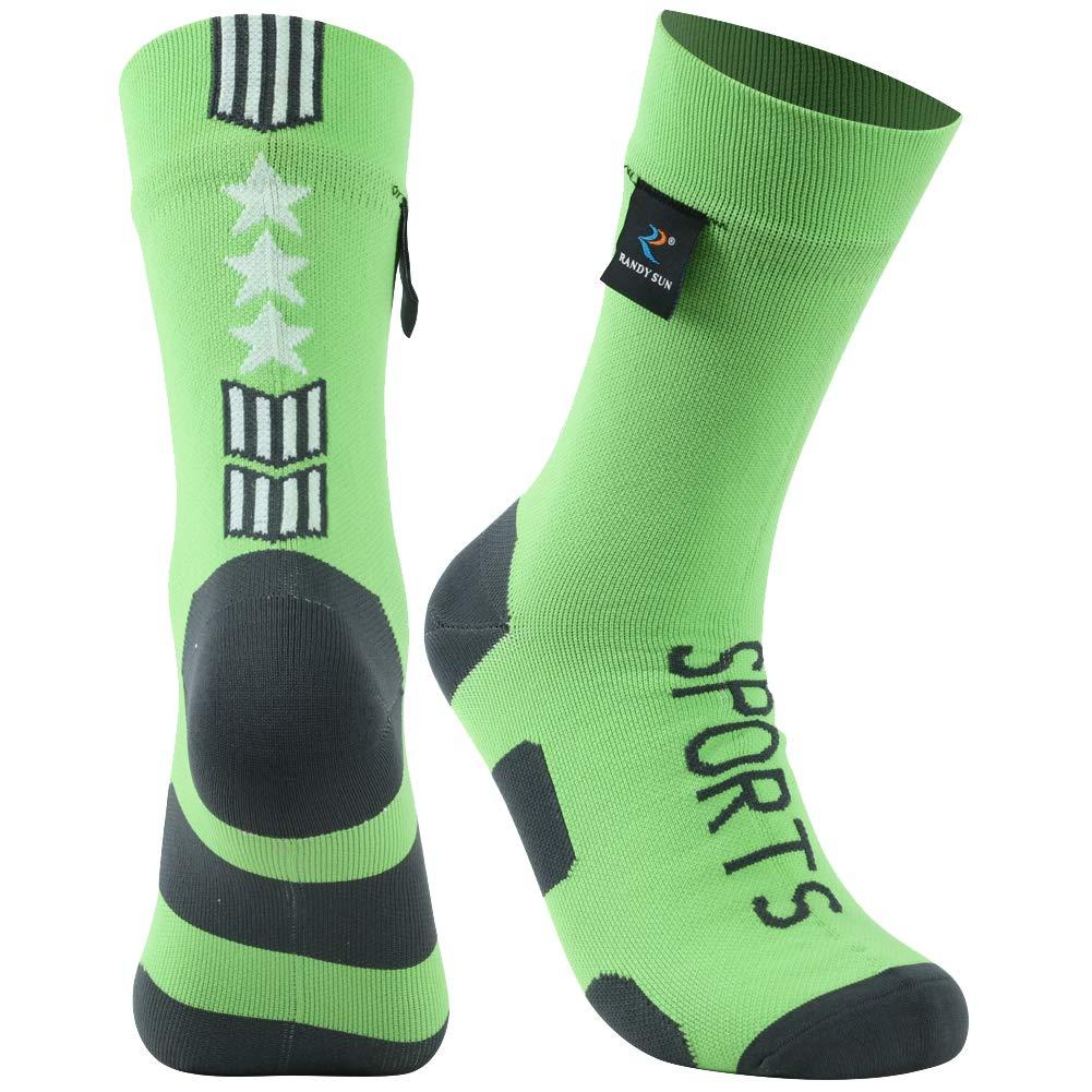 RANDY SUN Flag Socks, Breathable Waterproof Fashion Dri Fit Multisport Unisex Socks, 1 Pair-Green-Mid Calf Socks,Small by RANDY SUN