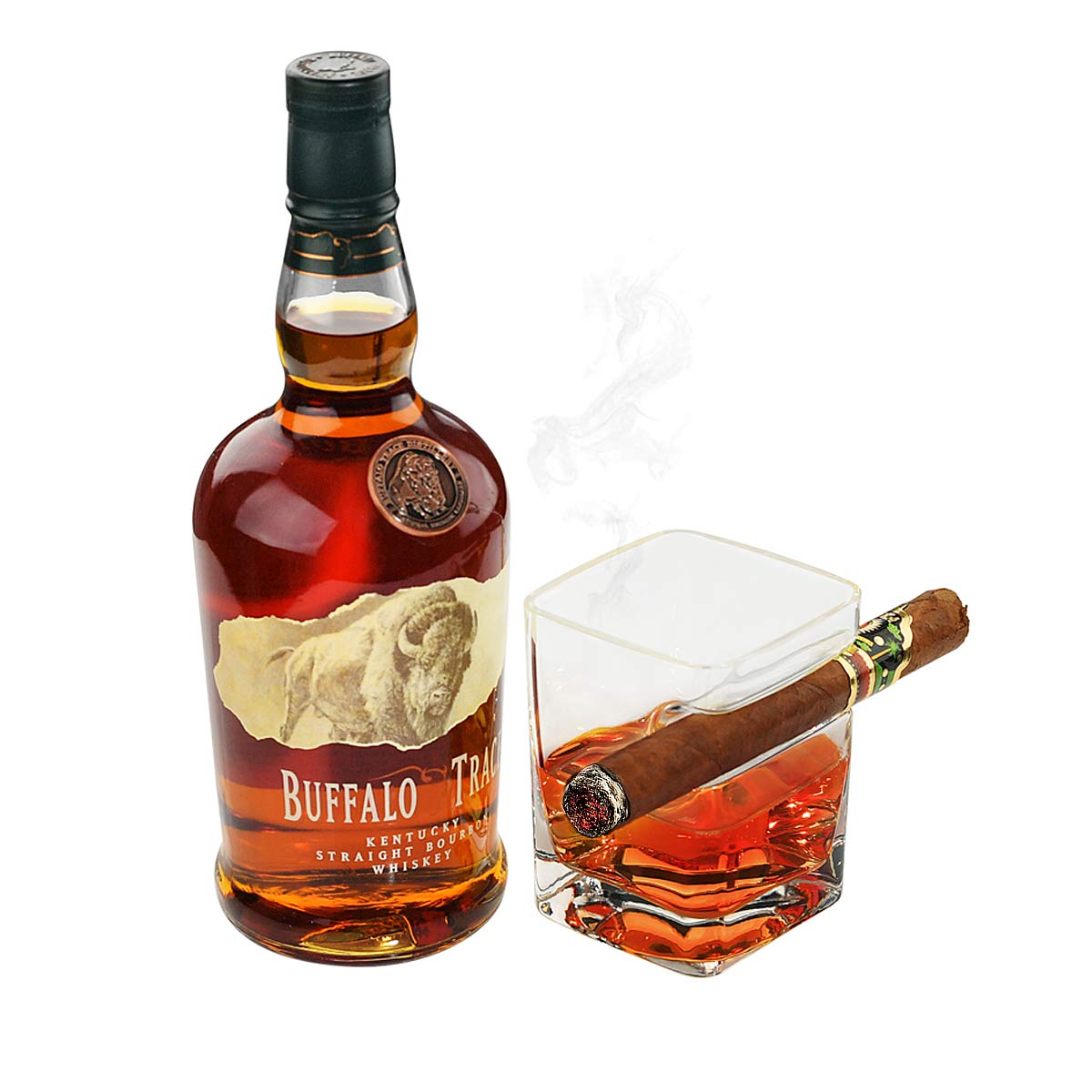ARAD Cigar Holder and Drinking Glass, Smoking Accessories