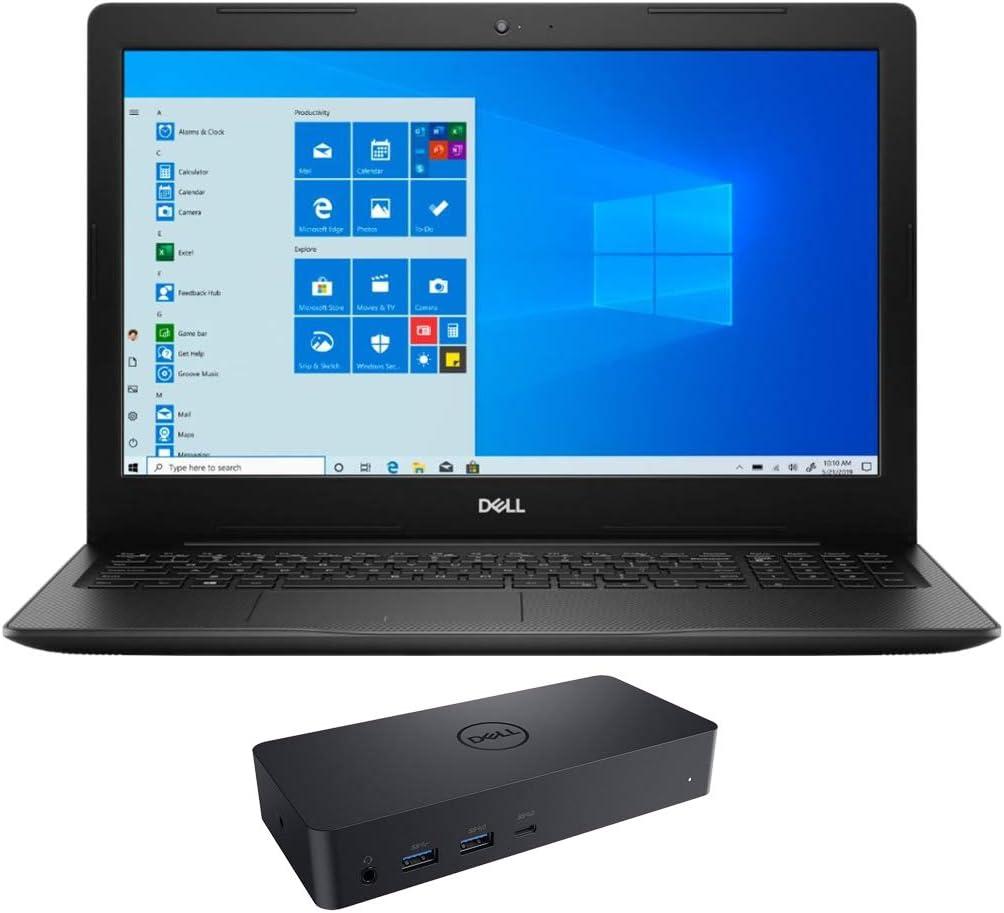 "Dell Inspiron 3593 Home and Business Laptop (Intel i7-1065G7 4-Core, 8GB RAM, 512GB SATA SSD, Intel Iris Plus, 15.6"" Full HD (1920x1080), WiFi, Bluetooth, Webcam, Win 10 Pro) with D6000 Dock"