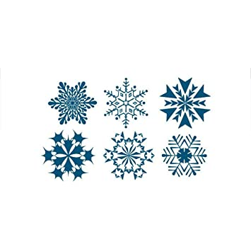 c47452cc10bd3 Amazon.com: MuLuo New Mini Snowflake Tattoo Sticker Removable ...
