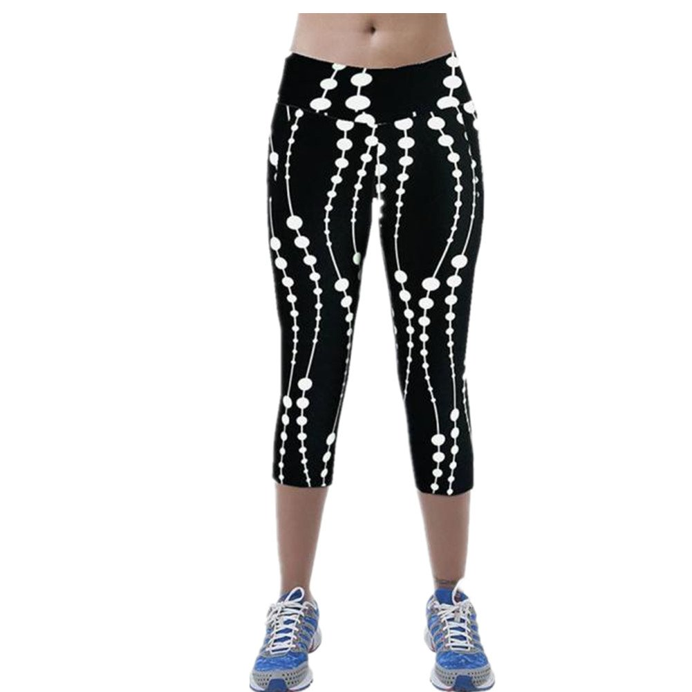 976fb84520dc0 Women Pants High Waist Fitness Yoga Sport Pants Printed Stretch Cropped  Leggings ❤NOTE: Please compare the detail sizes with yours before you buy!