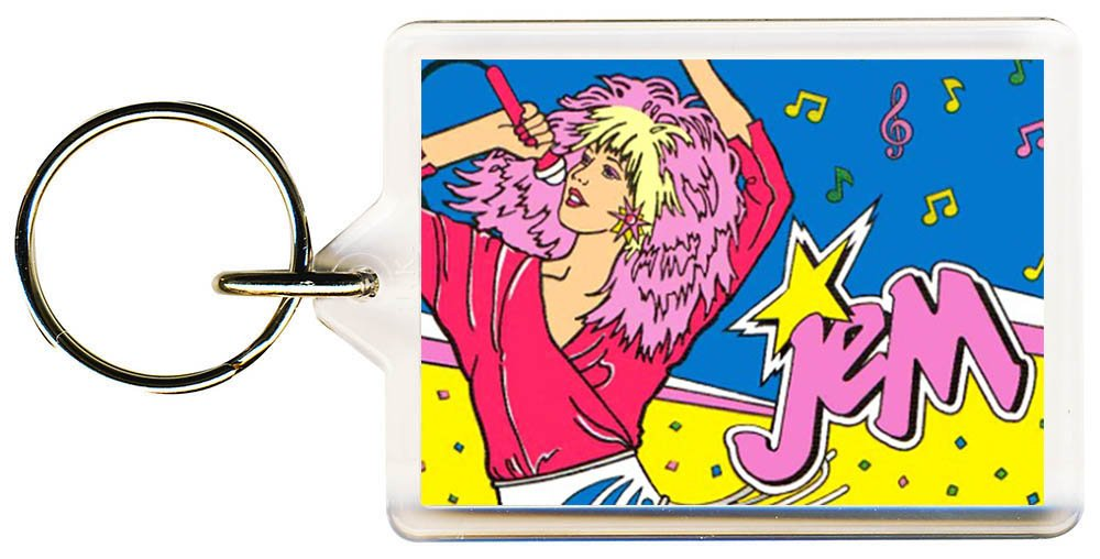 S8keMedia Jem and the Holograms #2 Keyring 50mm x 35mm