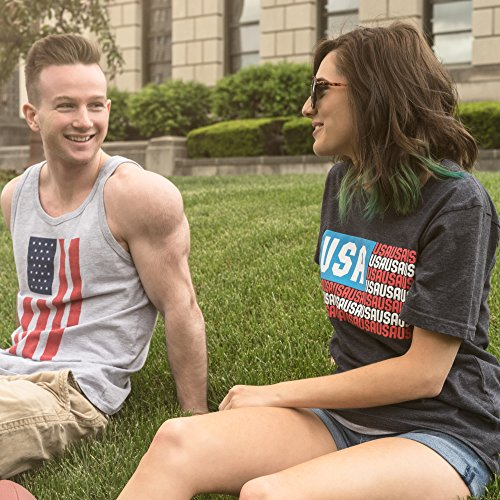 American Flag USA T Shirt: Red, White and Blue Graphic Tees for Men, Women, Teens and Kids - Small by Epivive (Image #5)