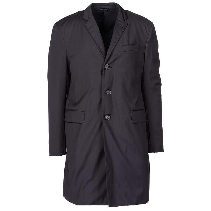 d56a0e81ab Emporio Armani Cappotto Uomo Blu 50 EU: Amazon.it: Abbigliamento