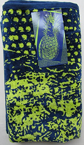 Kirkland Signature 100% Egyptian Cotton Beach Towel (Navy/Lime Pineapple)
