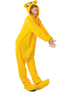 96eecca210c9 Amazon.com  Adventure Time Jake The Dog Onesie Footie Pajama for men ...