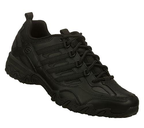 1f196e4fdfca Skechers Work Compulsions Chant Womens Slip Resistant Shoes Wide Width  Black 7 W