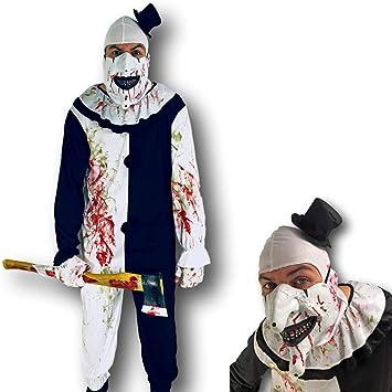 Disfraz de fiesta adulto bufón payaso joker mimo: Amazon.es ...