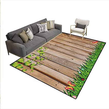 Amazon.com: Carpet, Fresh Spring Season Jardin Butterflies ...