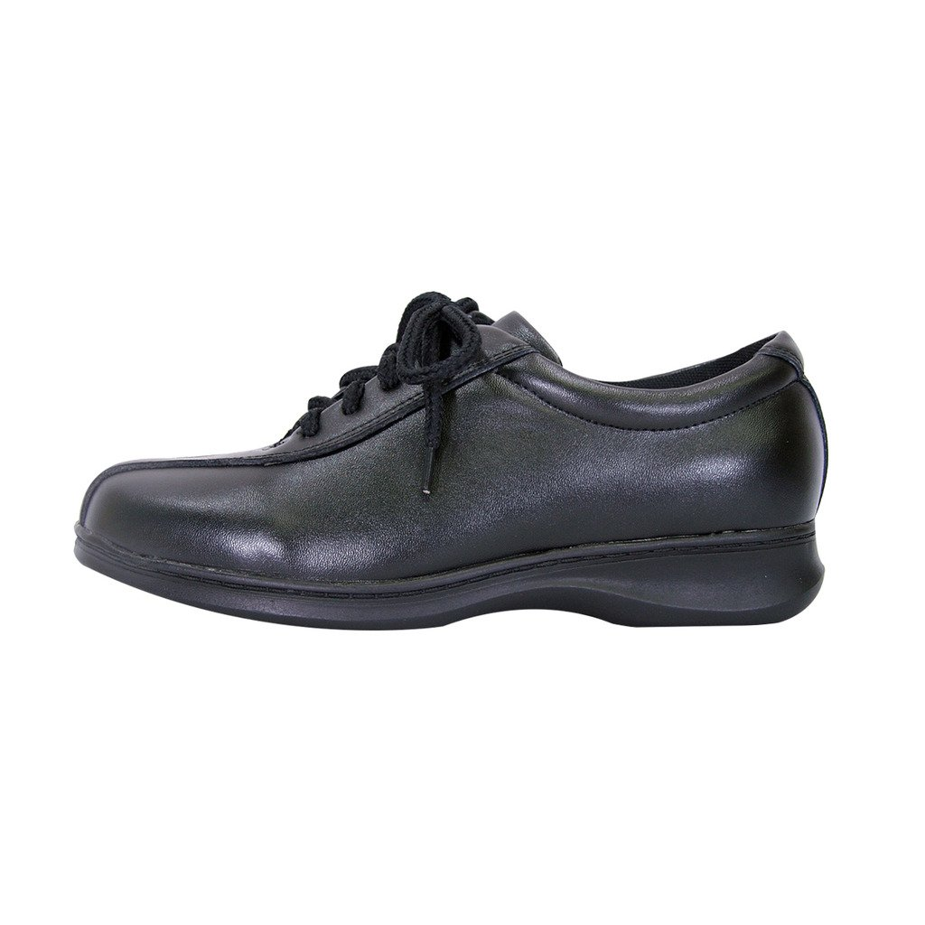 24 Hour Comfort  Valerie Women Extra Wide Width Lace up Shoes Black 11 by 24 Hour Comfort (Image #2)