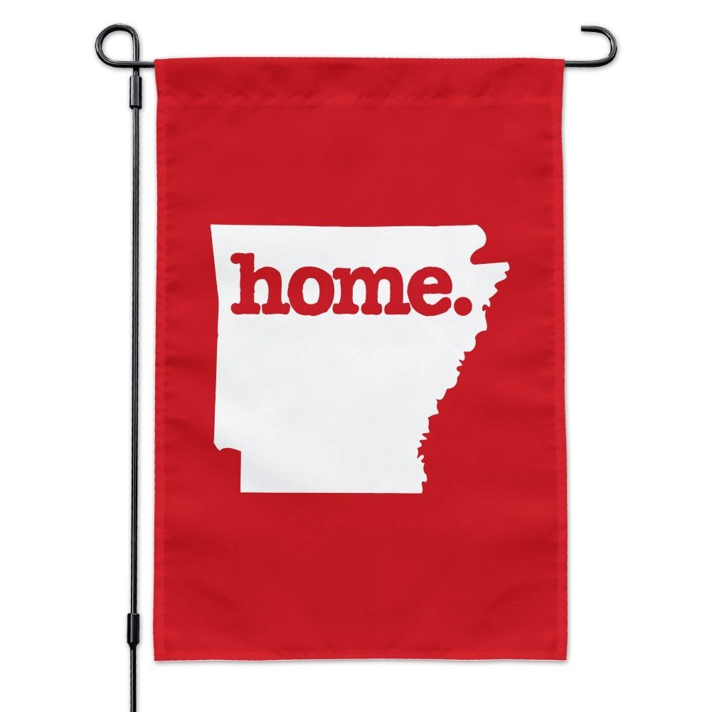 Graphics and More Arkansas AR Home State Solid Red Officially Licensed Garden Yard Flag with Pole Stand Holder