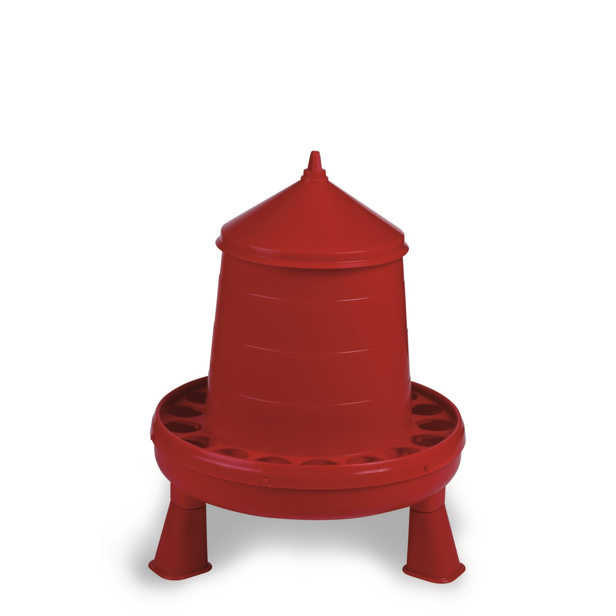 Gaun Plastic Poultry Feeder With Legs (17.6 lbs) (Red) by Gaun