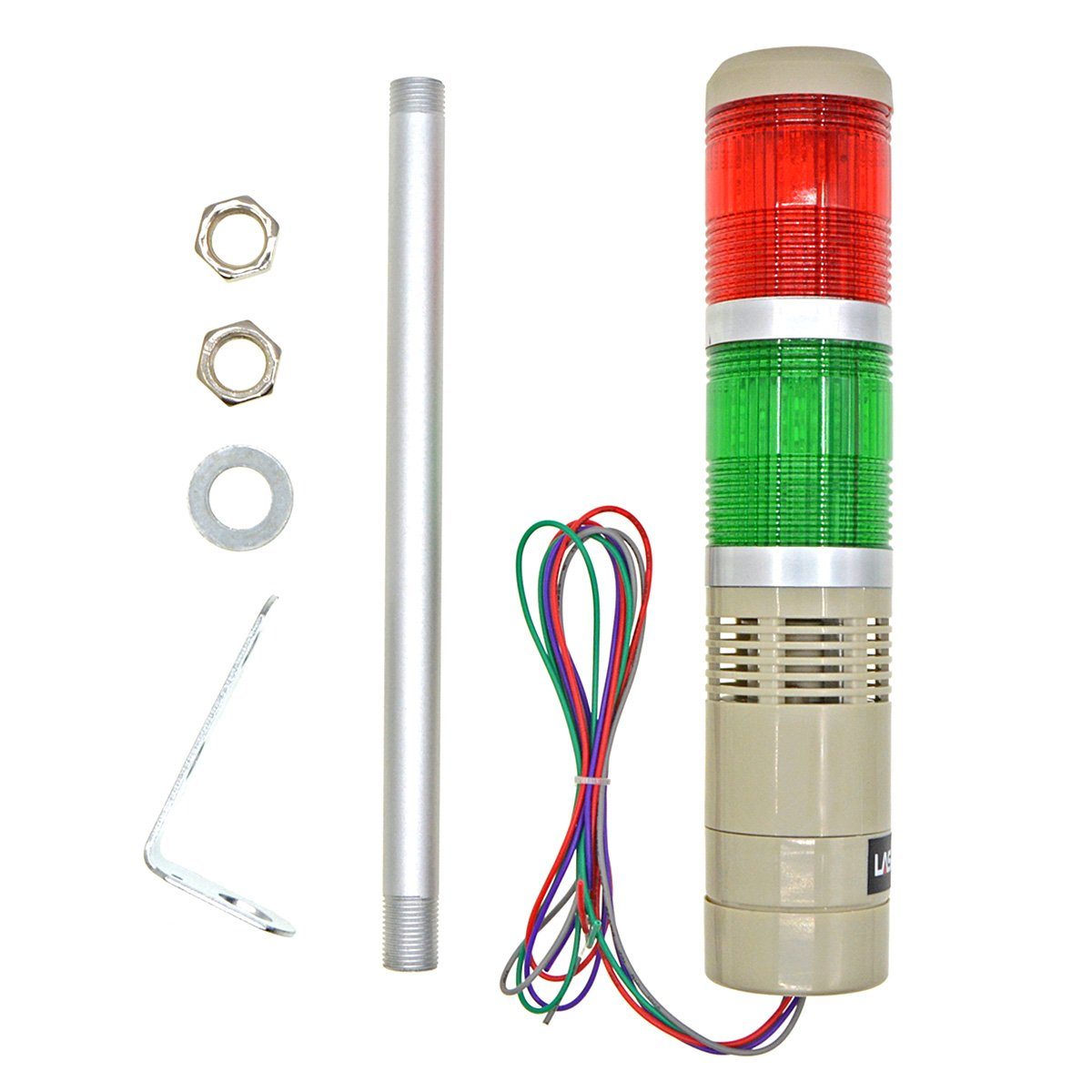 YXQ Industrial Signal Light DC 24V LED Red Green Alarm Tower Bulb Indicator Continuous Lamp Warning light Buzzer