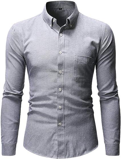 Mens Summer t Shirts Short Sleeve Tronet Fashion Pure Color Pocket Shirt Long Sleeve Blouse Top