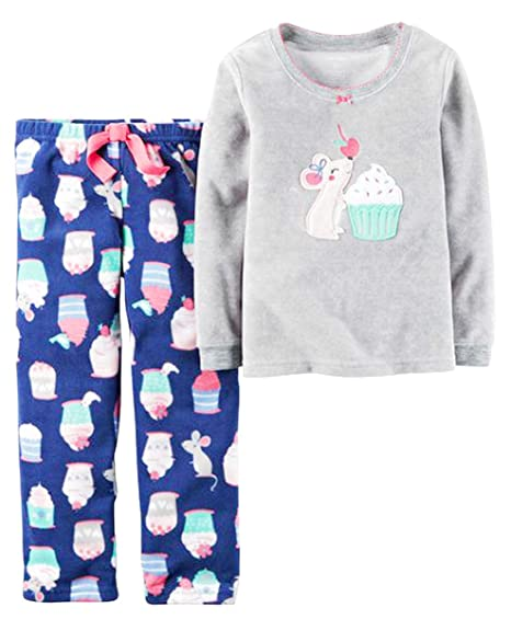 90aeb138b5 Amazon.com  Carters Girl s 2 Piece Cozy Flannel Pajamas Shirt and Pant  Sleepwear  Clothing