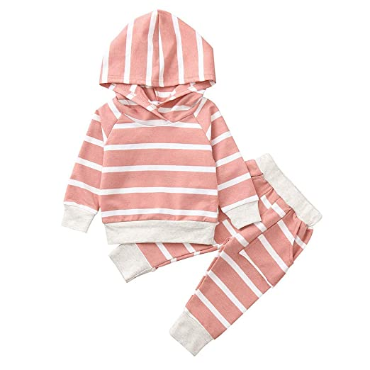 564e19dc09a28 Amazon.com: Tronet Infant Baby Girls Winter Floral Print Striped ...